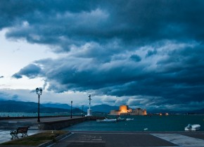 nafplio | clouds over bourtzi